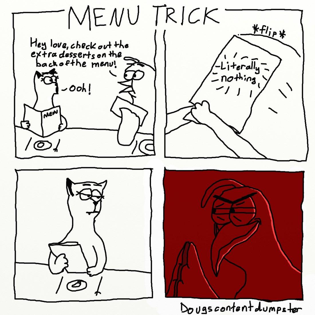 menu trick